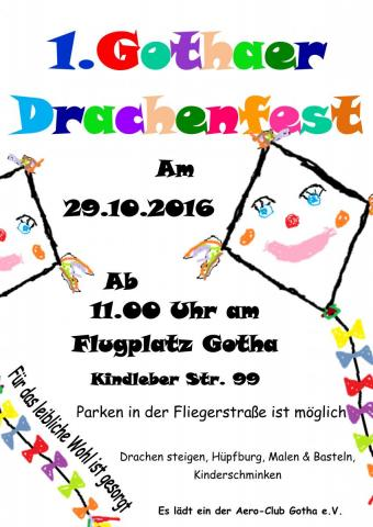 Plakat Drachenfest Gotha 2016